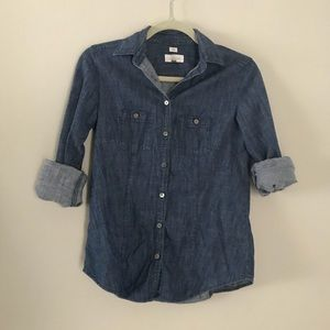 Loft the Softened Shirt in chambray denim